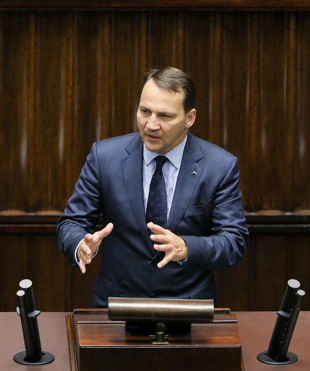 Radosław Sikorski kandydatem koalicji na marszałka Sejmu