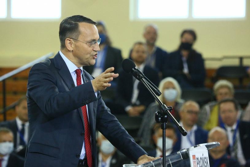 Radosław Sikorski na krajowej Konwencji PO w Płońsku /Piotr Molecki /East News