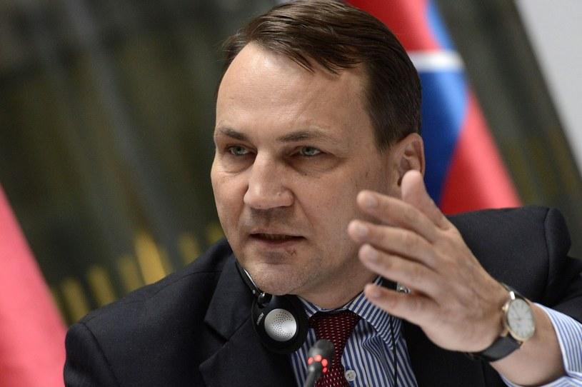 Radosław Sikorski, szef polskiego MSZ. /PAP/EPA