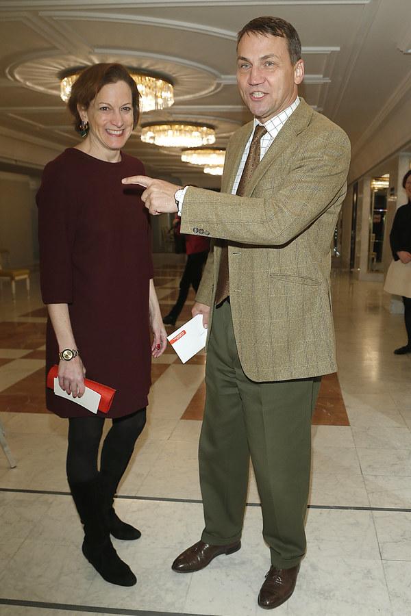 Radosław Sikorski z żoną /Krzemiński Jordan /AKPA