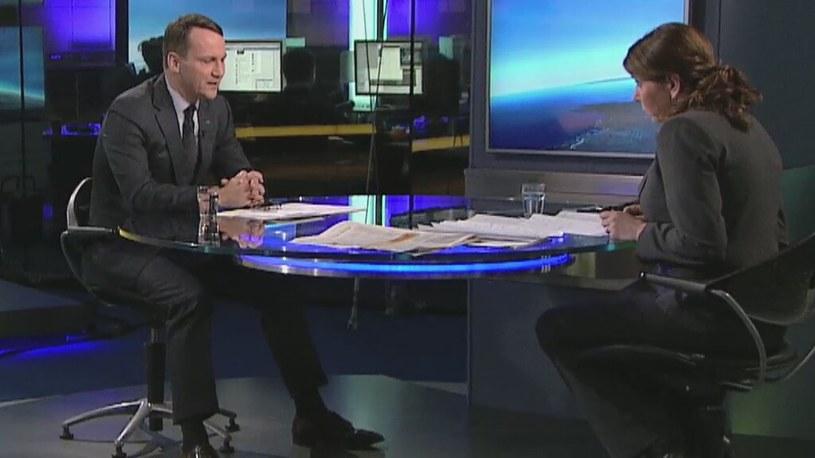 Radosław Sikorski /TVN24/x-news