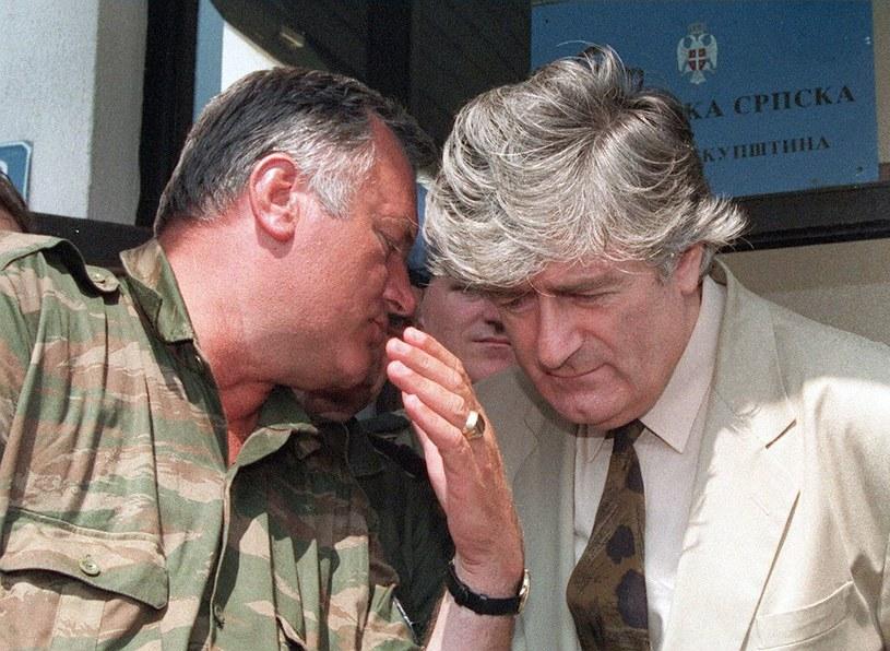 Radovan Karadzić i Ratko Mladic na zdjęciu archiwalnym z 1993 r. /AFP
