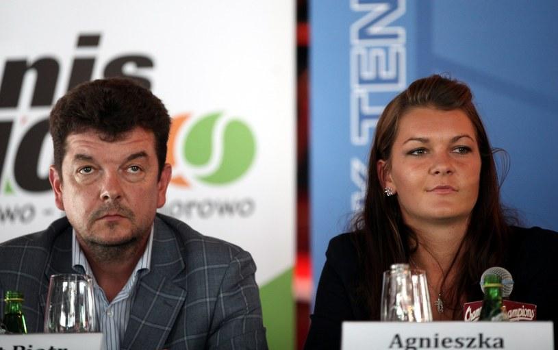 Radwańska z ojcem /Iwańczuk /Reporter