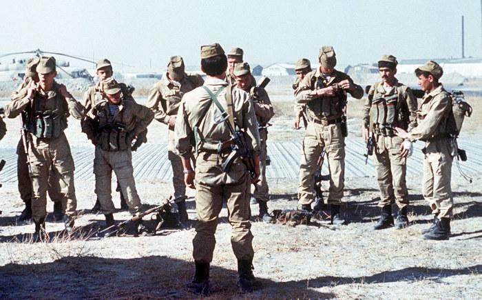 Radzieccy żołnierze w jednej z baz w Afganistanie /domena publiczna