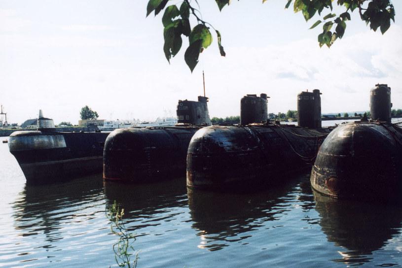 Radzieckie okręty podwodne przeznaczone do likwidacji. /Getty Images / Stringer /Getty Images