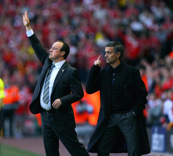 Rafael Benitez (z lewej) i Jose Mourinho /AFP