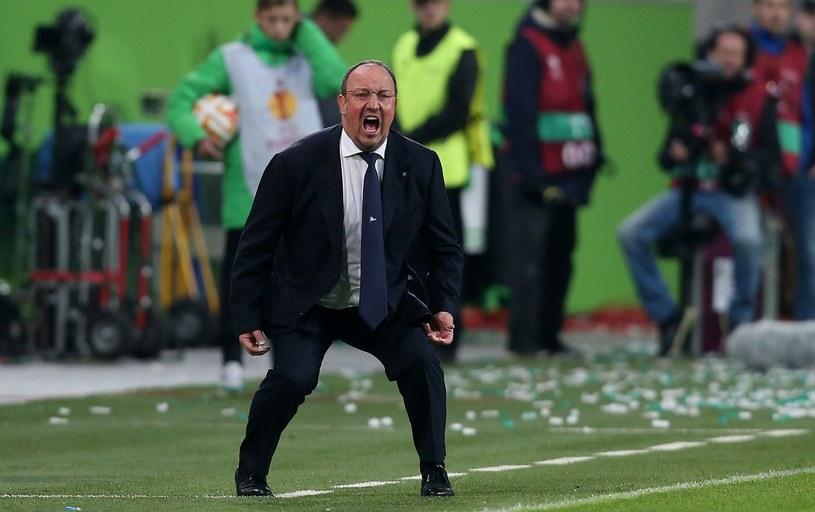 "Rafael Benitez ""żyje"" podczas meczu /AFP"