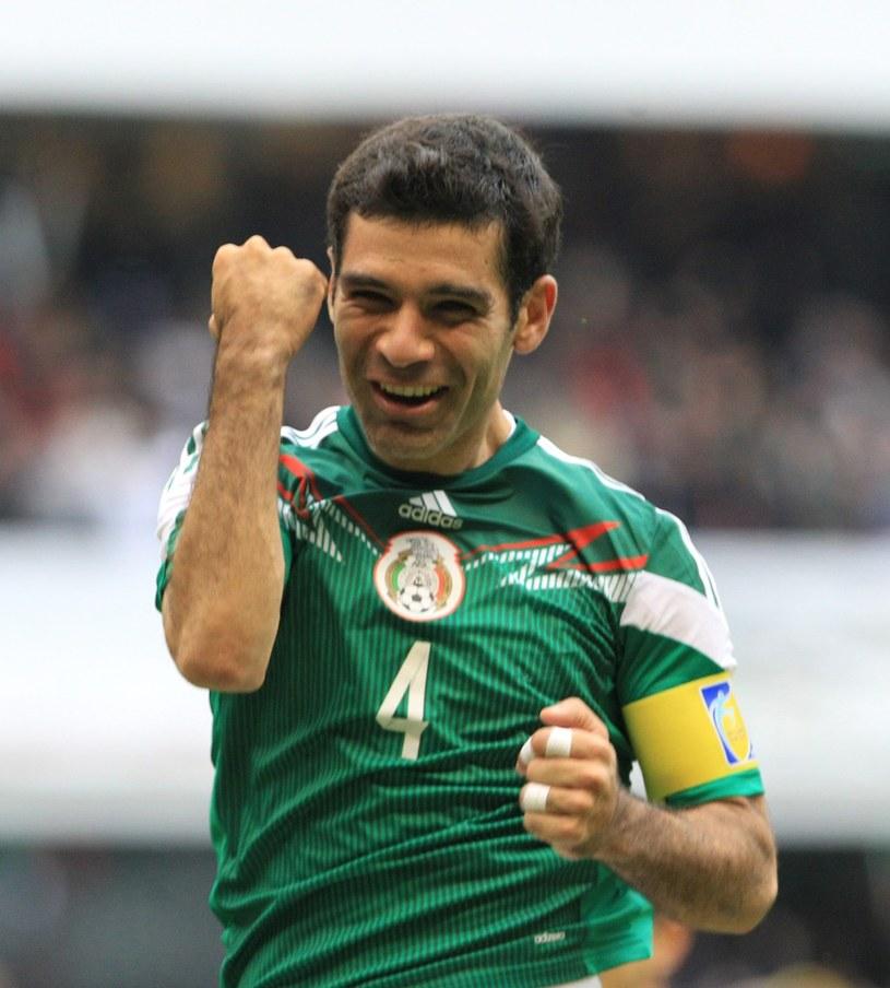 Rafael Marquez cieszy się z gola z Nową Zelandią /PAP/EPA