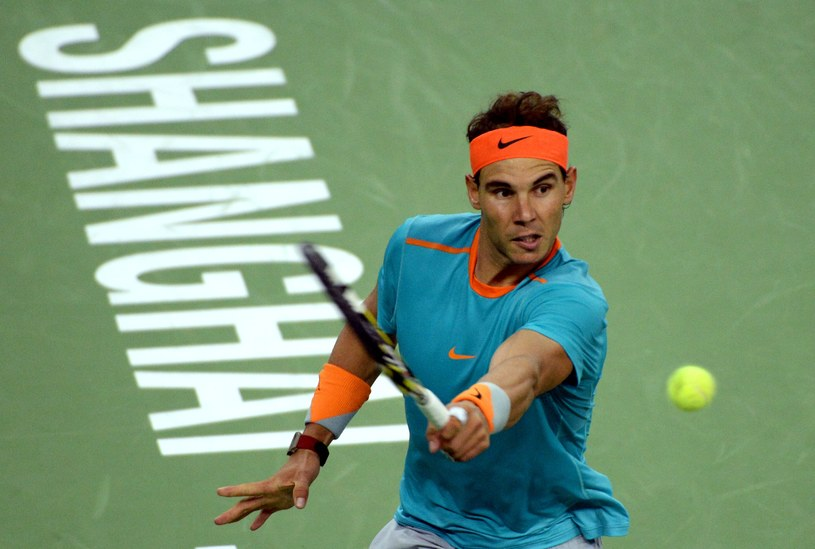 Rafael Nadal podczas meczu z Feliciano Lopezem /AFP