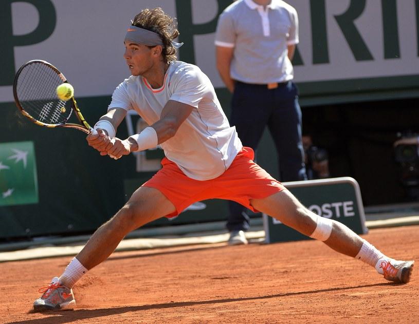 Rafael Nadal podczas meczu z Novakiem Djokoviciem /AFP