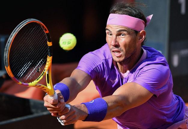 Rafael Nadal podczas turnieju ATP w Rzymie /ETTORE FERRARI /PAP/EPA