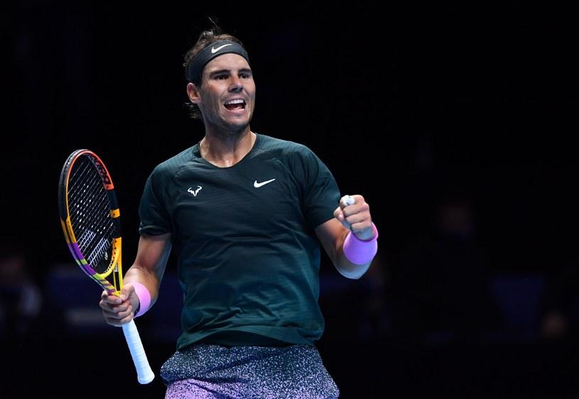 Rafael Nadal triumfuje /AFP