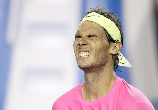 Rafael Nadal wymęczył awans po czterech godzinach /Narendra Shrestha /PAP/EPA