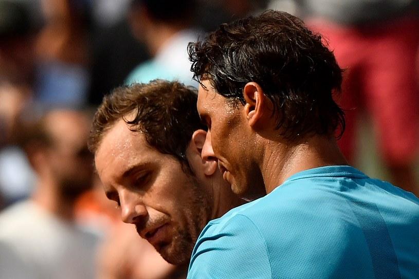 Rafael Nadal (z prawej) i Richard Gasquet /AFP