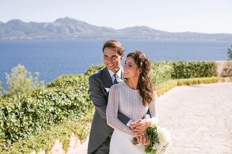 Rafael Nadal z żoną Xiscą /Getty Images