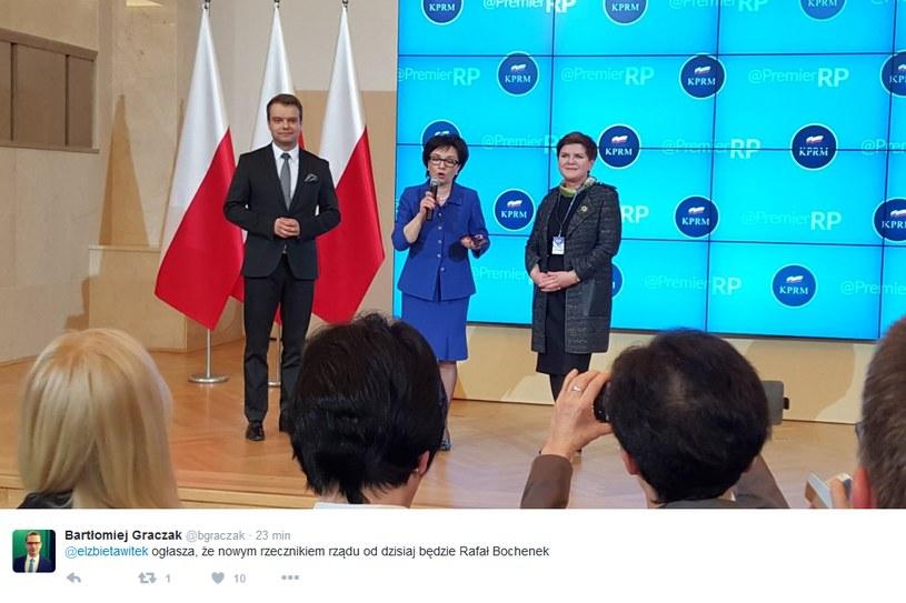 Rafał Bochenek nowym rzecznikiem rządu /Twitter