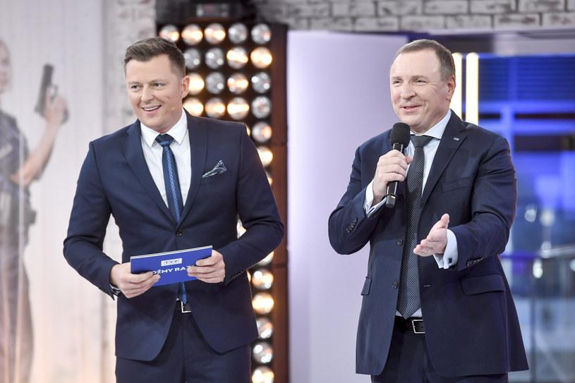 Rafał Brzozowski i prezes TVP Jacek Kurski /AKPA