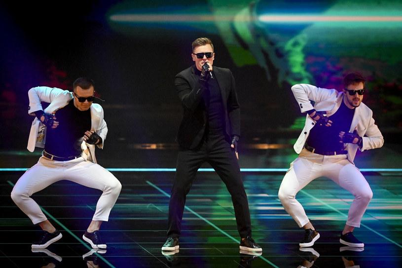 Rafał Brzozowski i reszta polskiej ekipy podczas próby jurorskiej na Eurowizji 2021 /PATRICK VAN EMST/AFP /East News