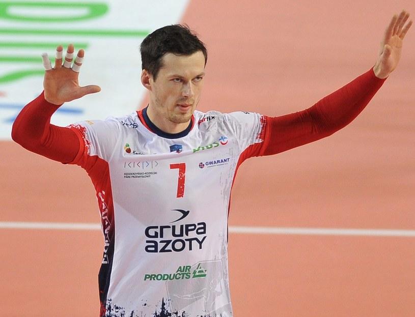 Rafał Buszek, siatkarz ZAKS-y Kędzierzyn-Koźle; fot: Rafał Rusek /Newspix
