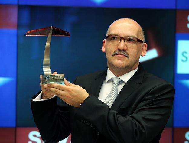 Rafał Chomicz, prezes Sevenet, w czasie debiutu na NewConnect /PAP