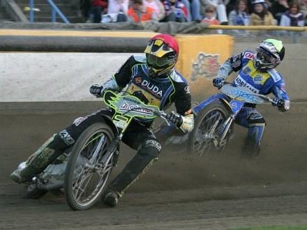 Rafał Dobrucki (na czele stawki) okazał się najlepszy w zawodach /Krzysztof Dudziak