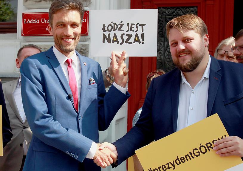 Rafał Górski i poseł Kukiz'15 Piotr Apel /Krzysztof Szymczak/POLSKA PRESS /East News