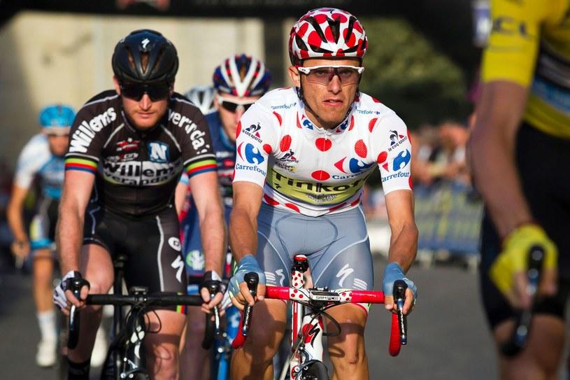 Rafał Majka dwa tygodnie temu wygrał klasyfikację górską Tour de France. Teraz ma szansę na medal w Rio de Janeiro /AFP