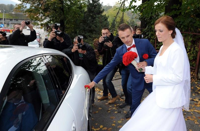 Rafał Majka i Magdalena ślub wzięli w 2014 roku /Maciej Gillert /East News