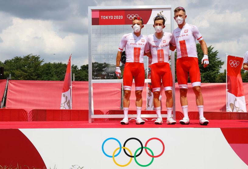 Rafał Majka, Michał Kwiatkowski i Maciej Bodnar / Tim de Waele / Staff /Getty Images
