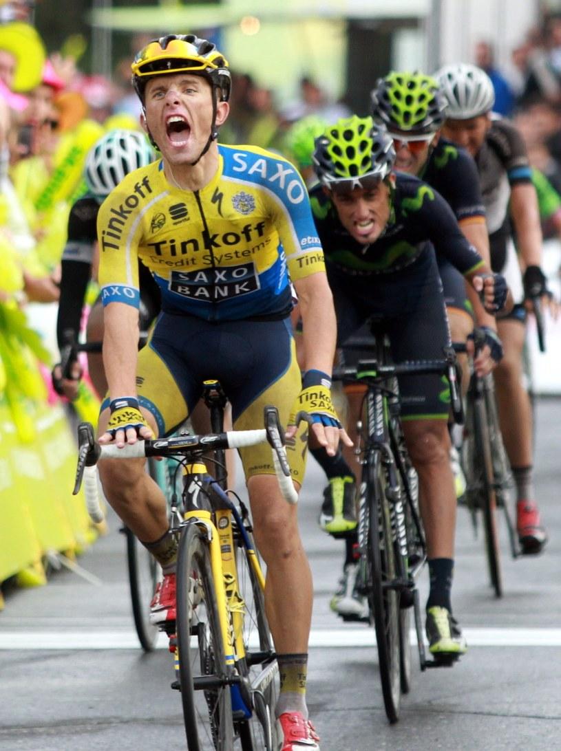 Rafał Majka wygrał 5. etap Tour de Pologne w słowackim Szczyrbskim Jeziorze /Grzegorz Momot /PAP