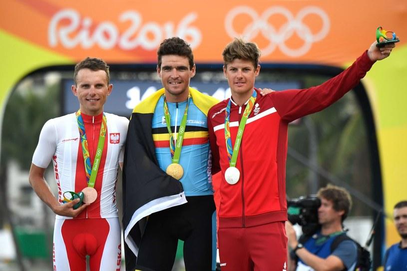 Rafał Majka z medalem olimpijskim /AFP