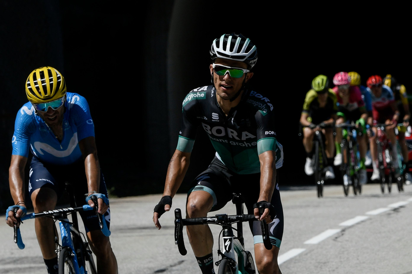 Rafał Majka (z prawej) podczas 12. etapu Tour de France /AFP