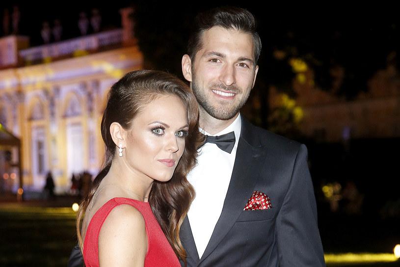 Rafał Maślak z żoną /Baranowski /AKPA