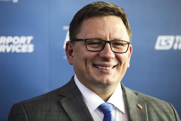 Rafał Milczarski, prezes LOT. Fot. Andrzej Hulimka /FORUM