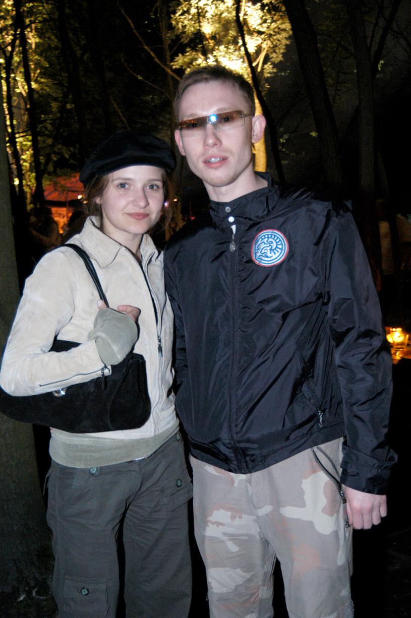 Rafał Mohr , na zdj. z Joanną Koroniewską, 2003 rok /Prończyk /AKPA