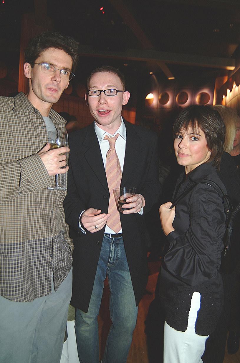 Rafał Mohr, na zdj. z Kubą Wojewódzkim i Anną Muchą, 2003 rok /Niemiec /AKPA