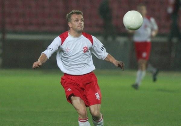 Rafał Niżnik zdobył gola dla ŁKS-u Fot. Grzegorz Michałowski /Agencja Przegląd Sportowy