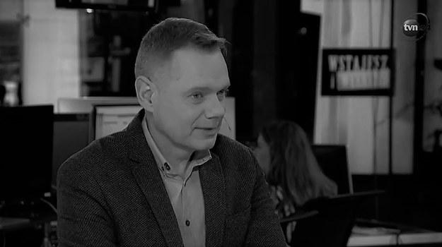 """Rafał Poniatowski w programie TVN24 """"Wstajesz i weekend"""", maj 2019 /Kadr z nagrania wideo / tvn24.pl /"""