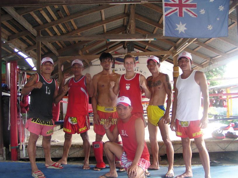 Rafał Simonides podczas treningów w Muay Thai Lamai Camp /INTERIA.PL