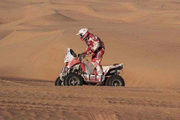 Rafał Sonik kończy rywalizację w Rajdzie Dakar 2020 na podium /ANDRE PAIN /PAP/EPA