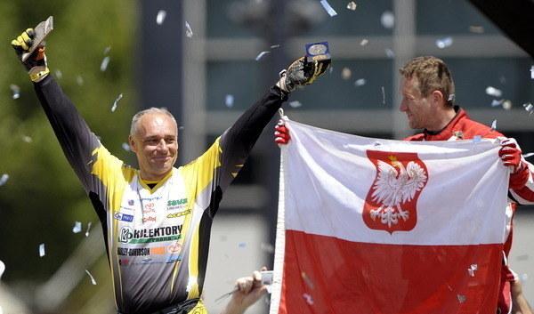 Rafał Sonik stanął na podium Rajdu Dakar w 2009 roku /AFP