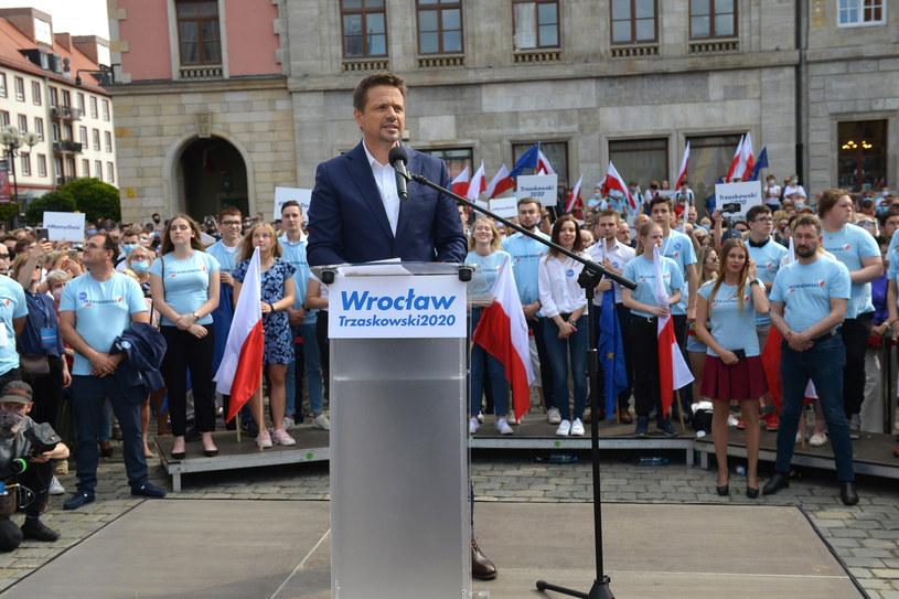 Rafał Trzaskowski 14 czerwca we Wrocławiu /PRZEMYSLAW FISZER /East News