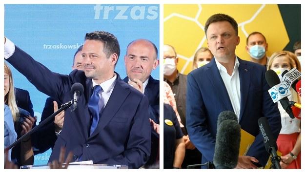 Rafał Trzaskowski (fot. Paweł Supernak) i Szymon Hołownia (fot. Rafał Guz) /PAP