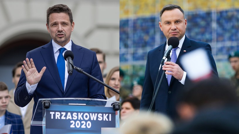 Rafał Trzaskowski i Andrzej Duda spotkają się najpewniej w II turze /Jakub Walasek/Beata Zawrzel/REPORTER /East News