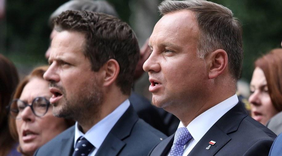 Rafał Trzaskowski i Andrzej Duda / Tomasz Gzell    /PAP
