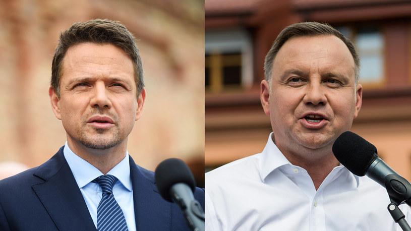 Rafał Trzaskowski i Andrzej Duda /Zbyszek Kaczmarek/REPORTER/Attila Husejnow /FORUM /