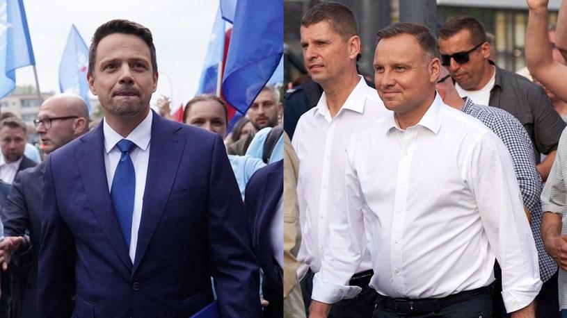 Rafał Trzaskowski i Andrzej Duda /Mateusz Włodarczyk / Anatol Chomicz  /Agencja FORUM