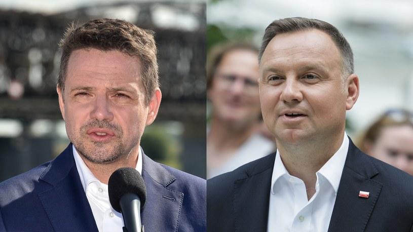 Rafał Trzaskowski i Andrzej Duda /Łukasz Dejnarowicz/Andrzej Hulimka/Forum /Agencja FORUM