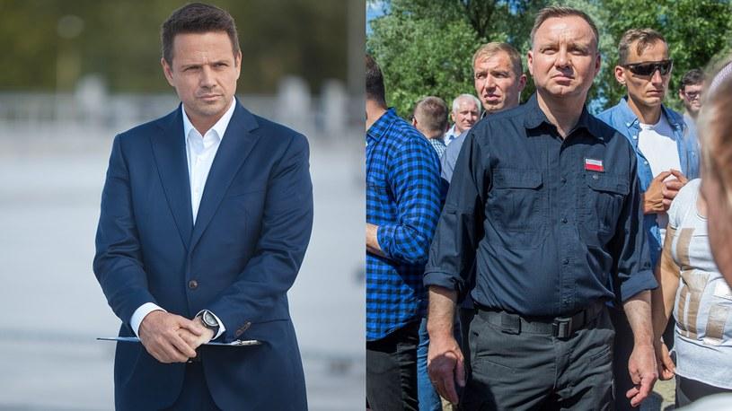 Rafał Trzaskowski i Andrzej Duda /Hubert Mathis/Maciej Goclon /Agencja FORUM