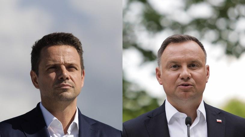Rafał Trzaskowski i  Andrzej Duda /Andrzej Hulimka/Forum /Agencja FORUM